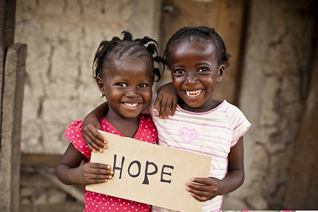 Africa children with Hope
