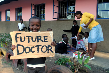 Hopeful African child