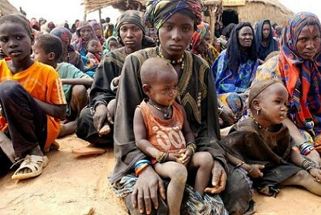 Suffering people in Africa